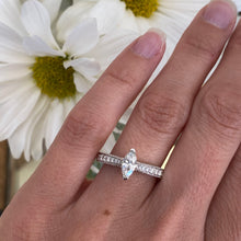 Load image into Gallery viewer, Marquise Diamond Beaded Engagement Ring
