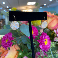 Load image into Gallery viewer, Diamond Dazzle Disk Drop Earrings