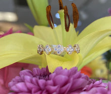 Load image into Gallery viewer, Clover Diamond Ring with Milgrain Detail