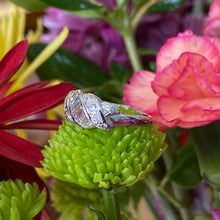 Load image into Gallery viewer, Vintage Platinum Baguette and Round Diamond Ring