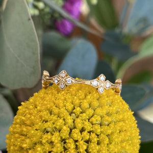 Floral Inspired Diamond Band