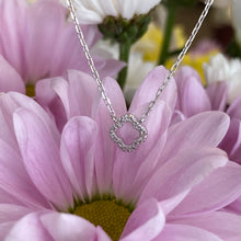 Load image into Gallery viewer, Petite Diamond Quatrefoil Necklace
