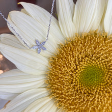 Load image into Gallery viewer, Dainty Flower & Diamond Necklace