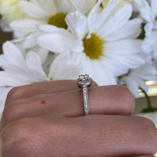 Load image into Gallery viewer, Petite Halo Diamond Engagement Ring