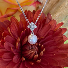 Load image into Gallery viewer, Pearl & Diamond Drop Necklace