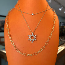 Load image into Gallery viewer, Diamond Sun Pendant and Chain