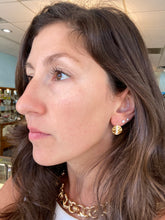 Load image into Gallery viewer, Diamond Line Disk Drop Earrings