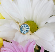 Load image into Gallery viewer, Blue Topaz and Diamond Ring in Yellow Gold