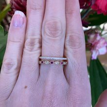 Load image into Gallery viewer, Ruby & Diamond Ring in Yellow Gold
