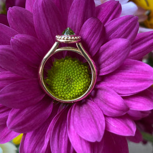 Unique Upside Down Peridot Ring