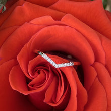 Load image into Gallery viewer, Chevron Diamond White Gold Band