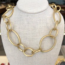Load image into Gallery viewer, Solid 18k Yellow Gold Organic Link Necklace