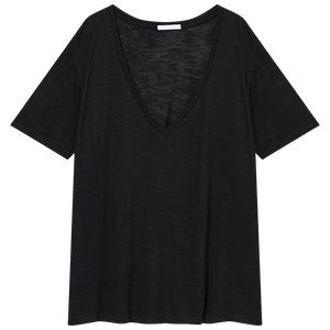 Basic V-neck Black Top - Les Goodies