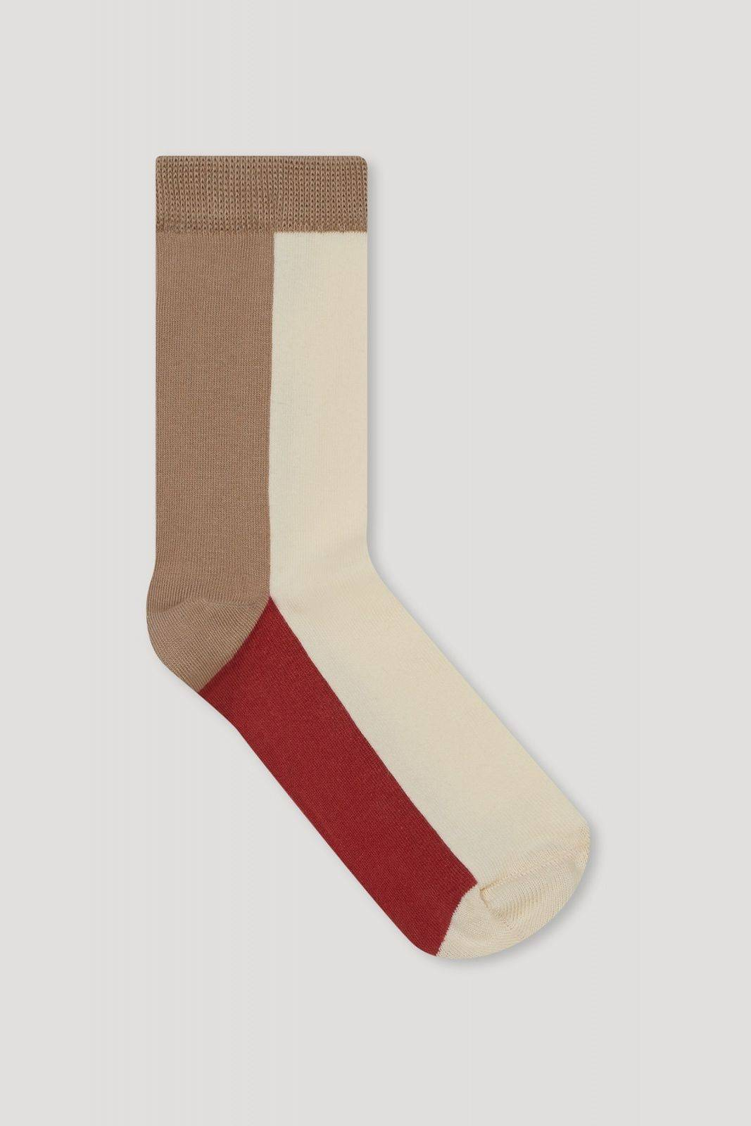 Copy of COLOR BLOCK SOCKS - Taupe - Les Goodies