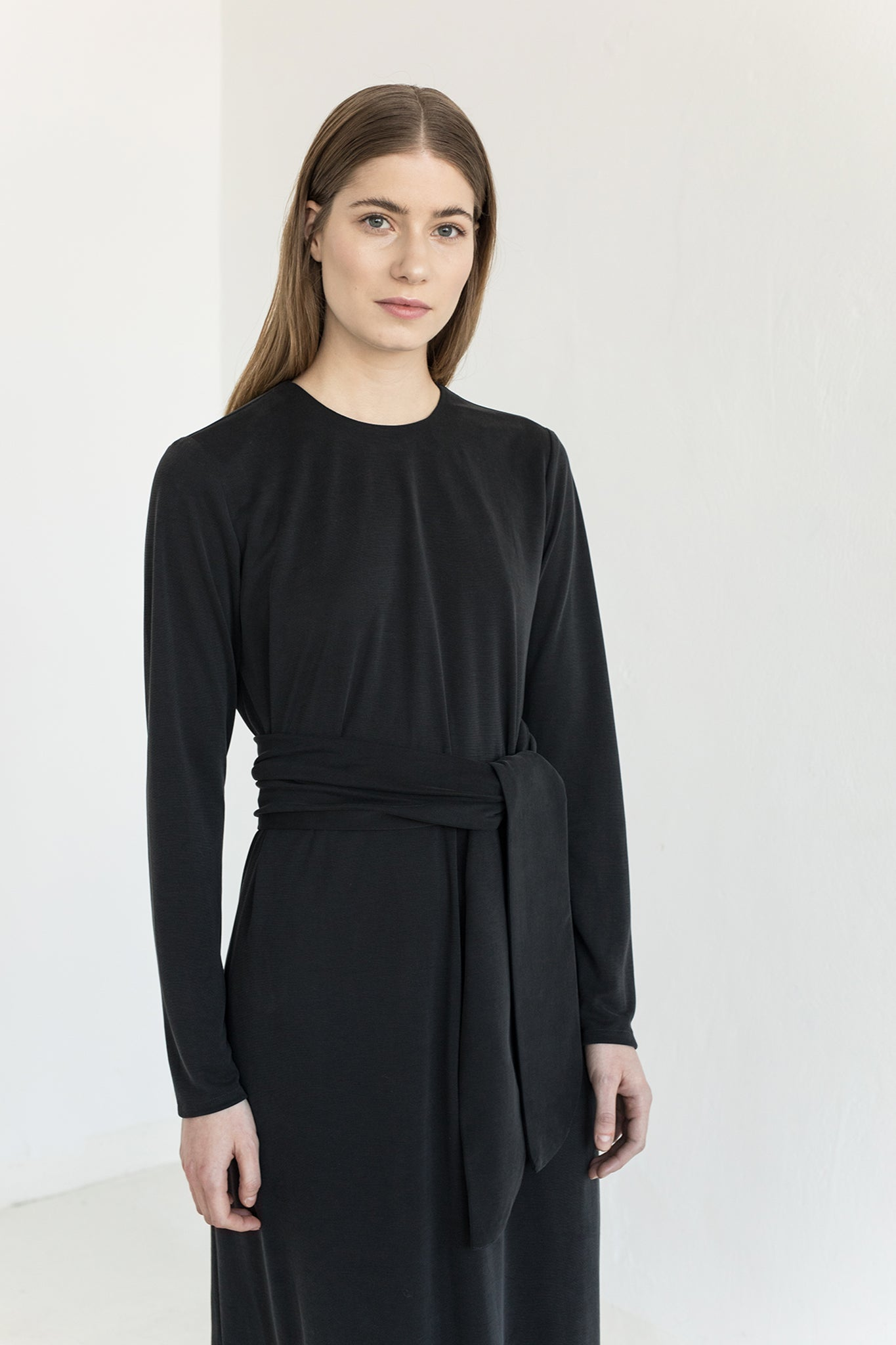 Gina Long Black Dress - Les Goodies