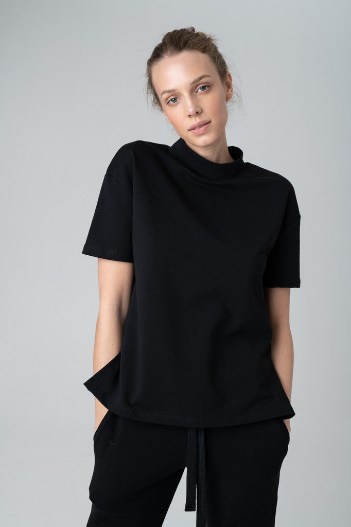 Elegant Black Blouse - Les Goodies