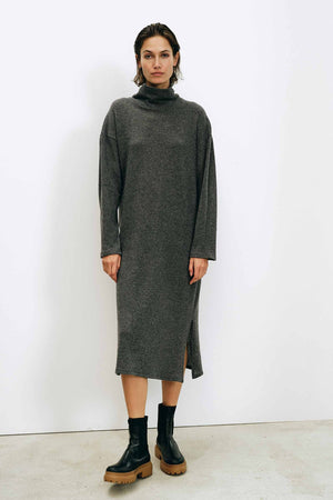 Lange Grey Dress - LesGoodies