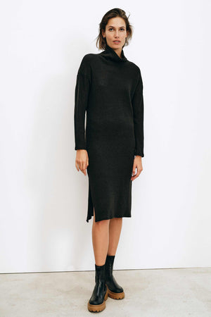 Lange Black Dress - LesGoodies