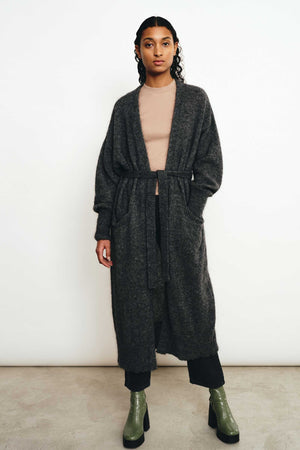 LAVA DARK GREY CARDIGAN - Les Goodies