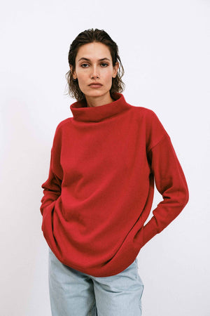 Luna Red Sweater - LesGoodies