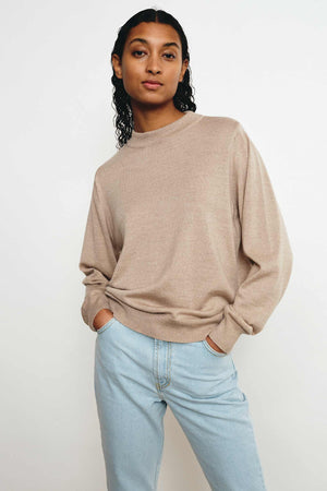 MERINO TAUPE BASE SWEATER