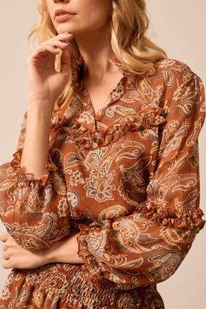 Russet Pattern Shirt - Les Goodies