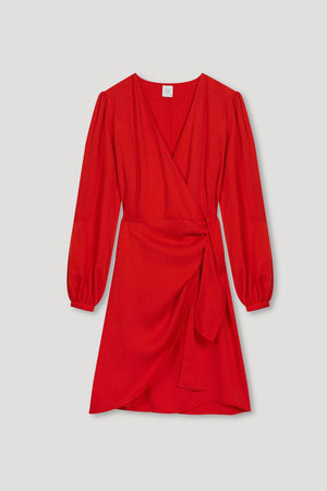 Valentina Wrap Dress in Red - Les Goodies