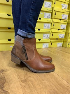 Rieker 55591-24 Low Heeled Ankle Boot