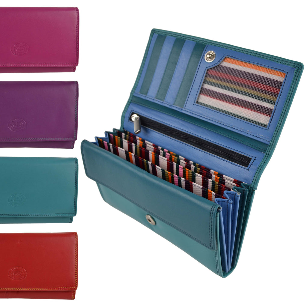 London Leathergoods Large Purse 1055 Assorted Colours