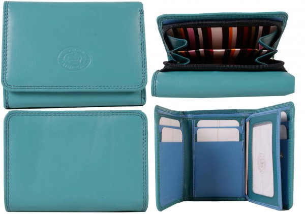 London Leathergoods Small Leather Purse 1063 Assorted Colours