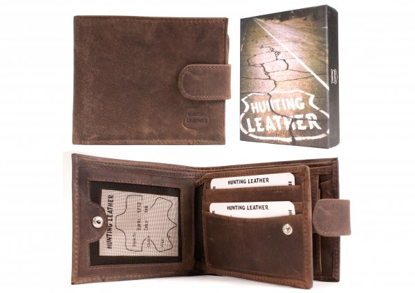 Hunting Leather Wallet 1212 Waxy Oily Tan