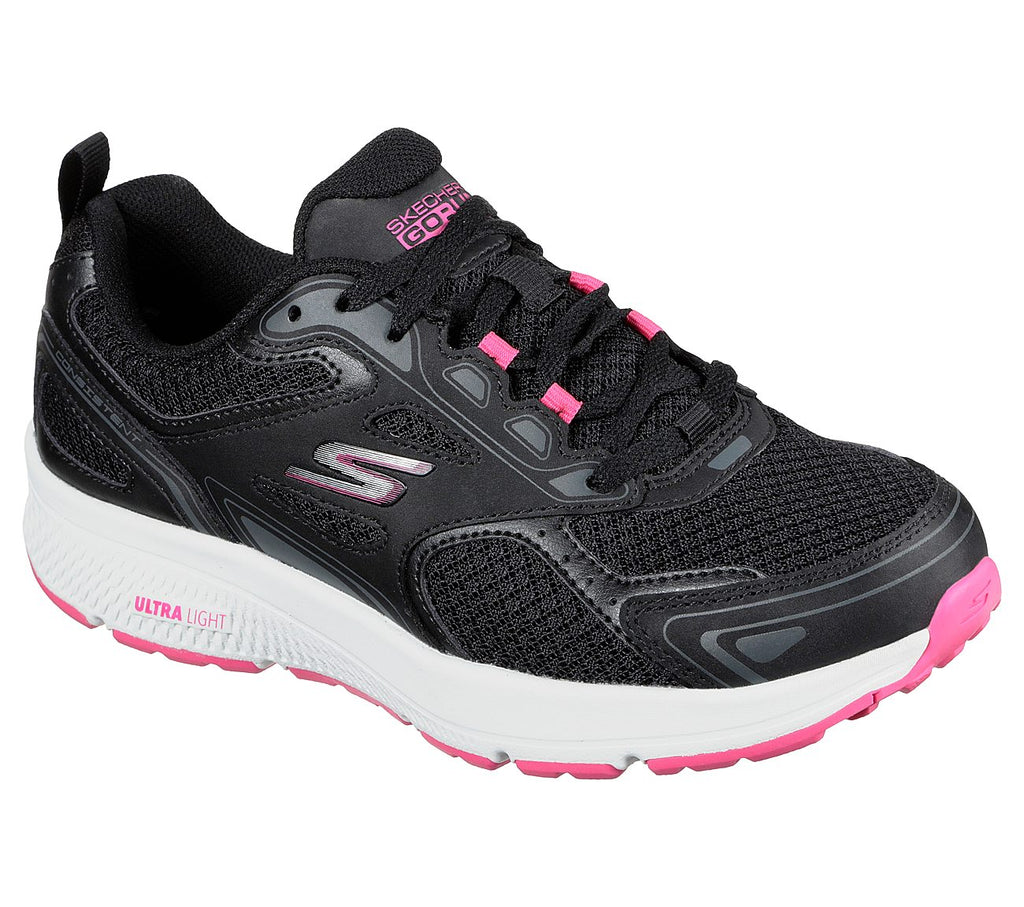 Skechers 128075 Go Run Consistant Trainer Black/Pink
