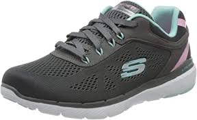 Skechers 13474 Flex Appeal 3.0 Steady Move Charcoal/Turq