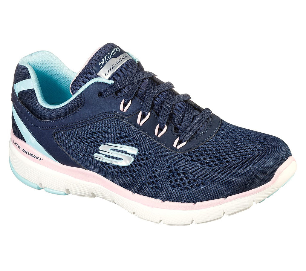 Skechers 13474 Flex Appeal 3.0 Steady Move Navy Pink