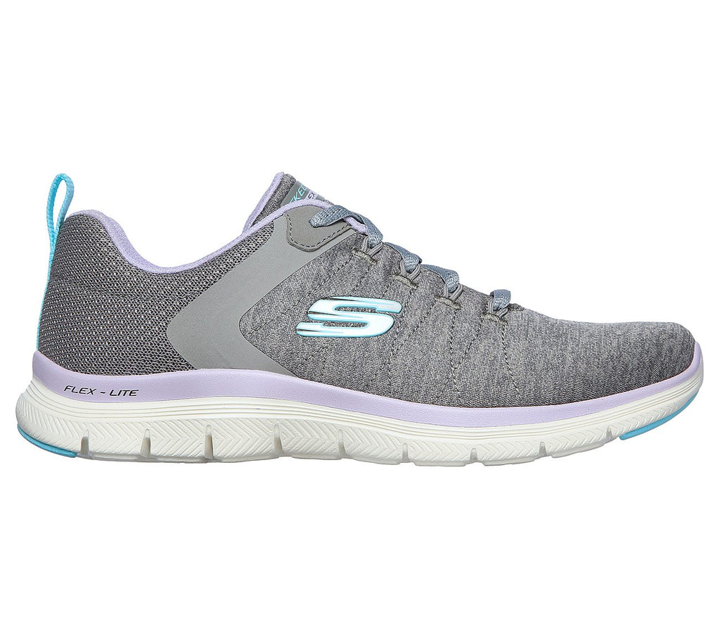 Skechers Flex Appeal 4.0 Trainer 149307 Grey/Lavender