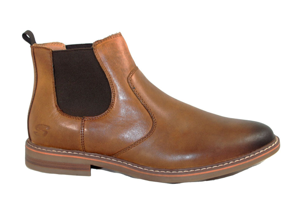 Skechers 66406 Bregman-Morago Pull On Chelsea Boot Tan