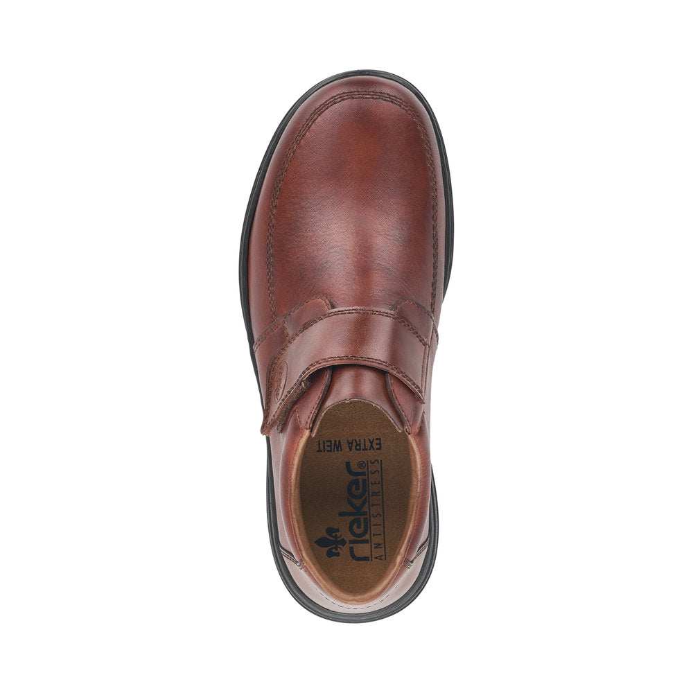 Rieker 17372-24 Mens Casual Touch Fastening Shoe Tan
