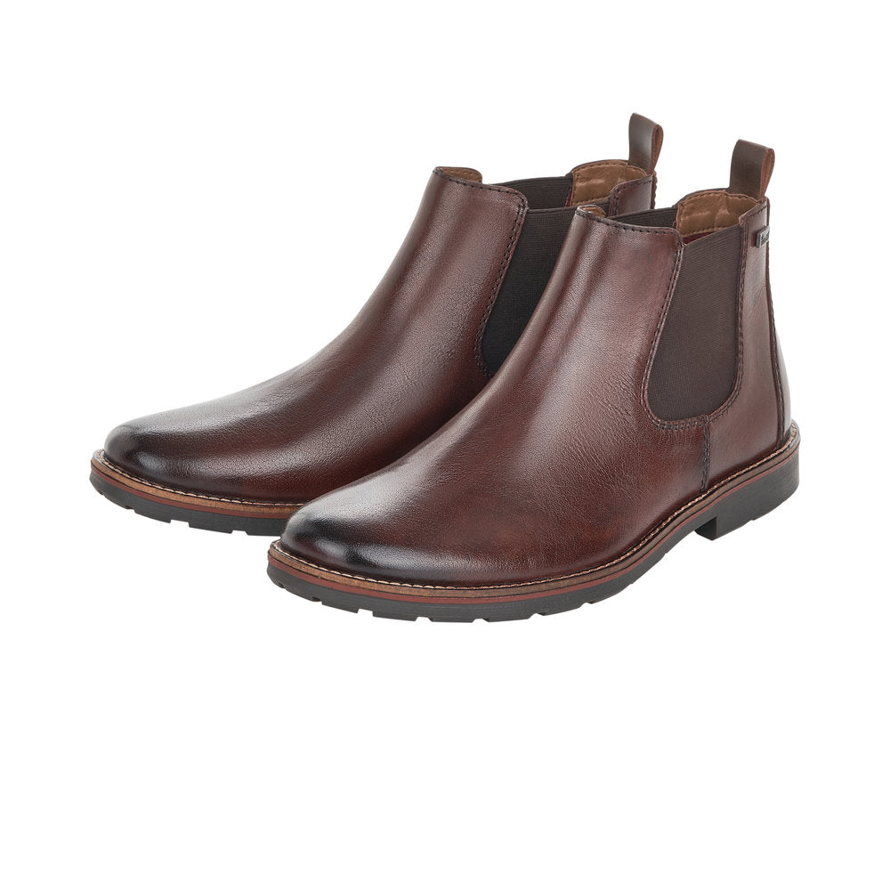 Rieker Tex 35382-25 Mens Chelsea Boot Dark Brown