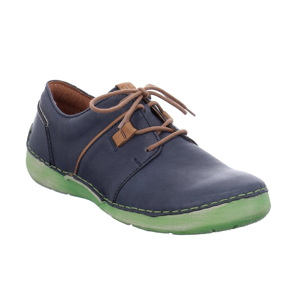 Josef Seibel Fergey 91 Lace Up Shoe Blue Combi