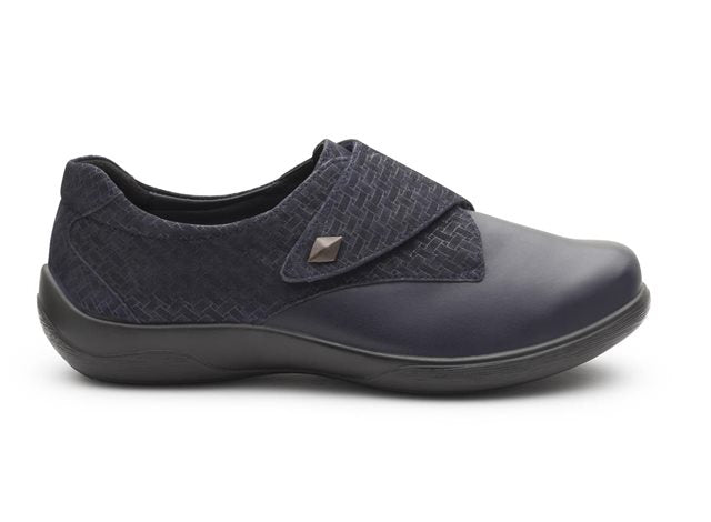 Padders Viola Wide Fit Touch Fastening Shoe Navy