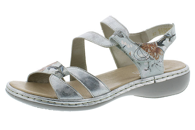 Rieker Adjustable Sandal 65969-82 Ice Multi