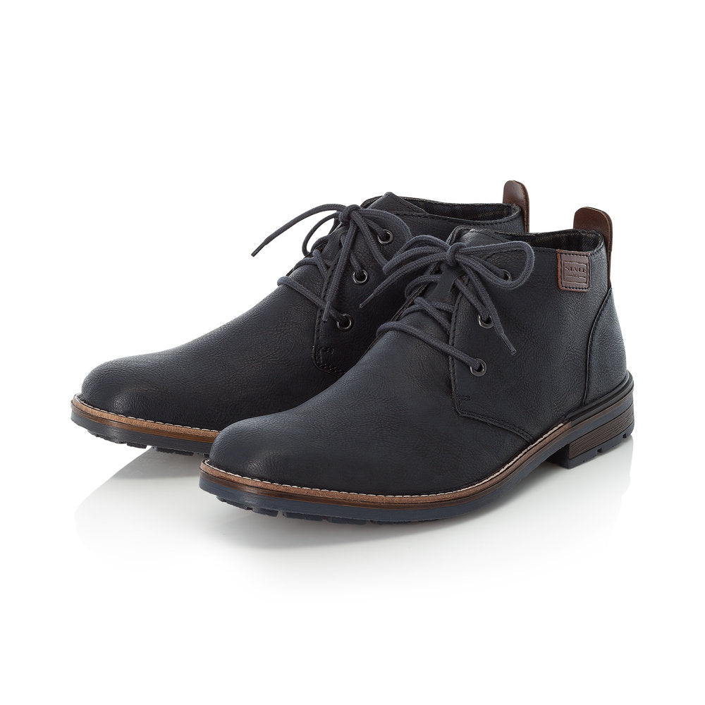 Rieker B1340-14 Mens Casual lace up Navy Blue Ankle Boot