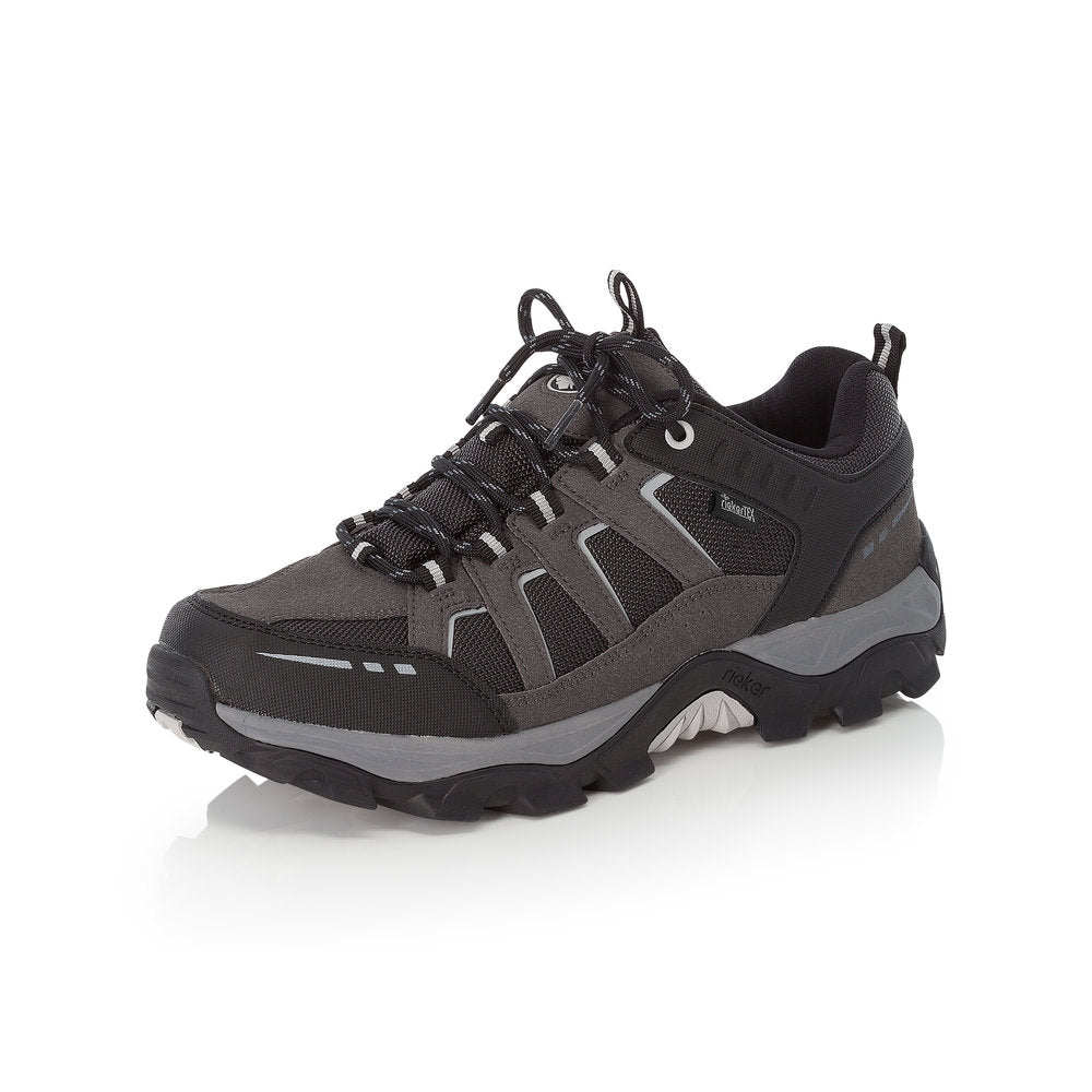 Rieker Tex B8820-02 Mens Waterproof Walking Shoe Black/Grey