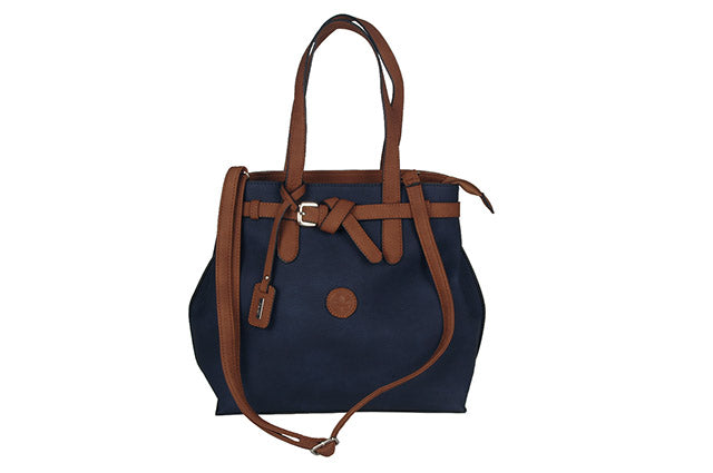 Rieker Twin Handle Bag H1070-14 Navy/Tan