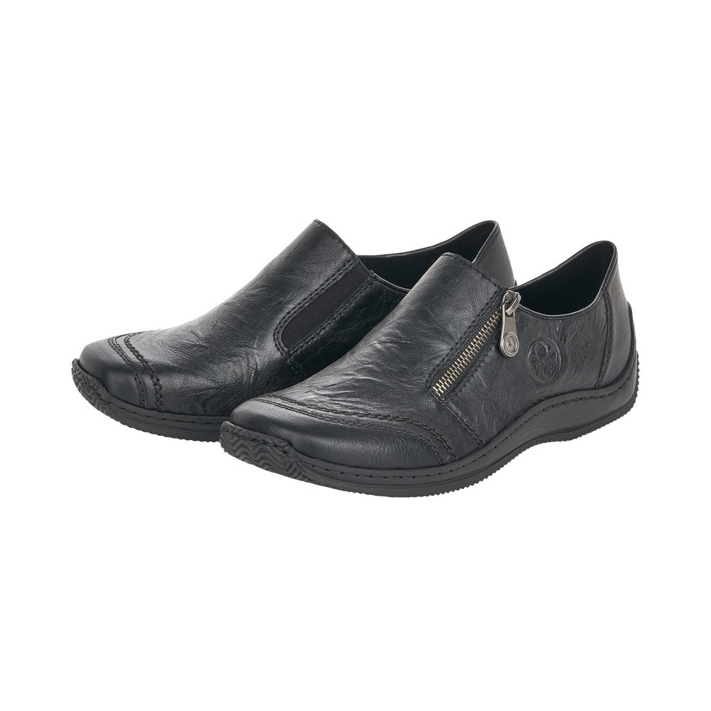 Rieker L1771-00 Womens Slip On Shoe Black