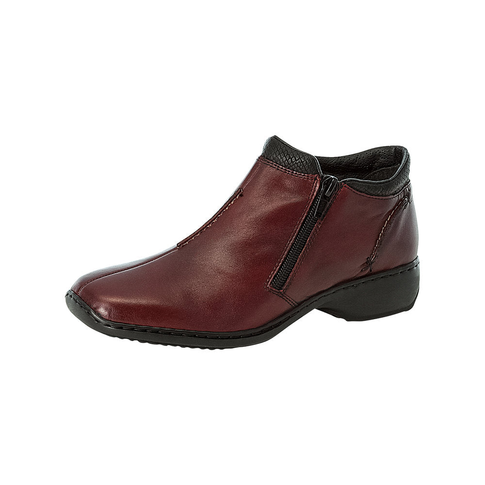 Rieker L3882-35 Twin Zip Ankle Boot Burgundy