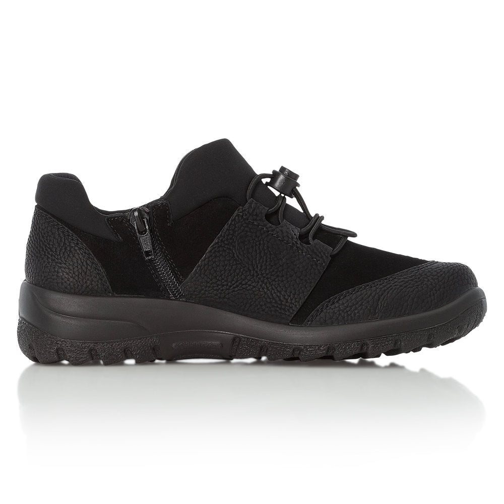 RiekerTex L7180-00 Waterproof Walking Shoe Black