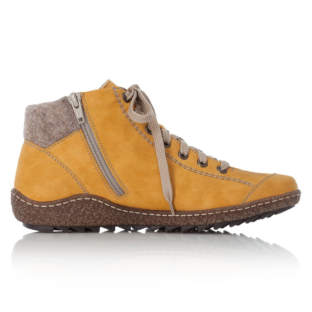 Rieker L7543-69 Womens Warm Lined Ankle Boots Yellow