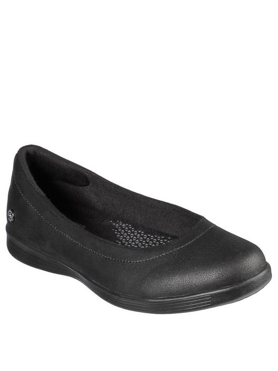 Skechers 136210 On-The-Go Dreamy-Night out Ballerina Shoe Black