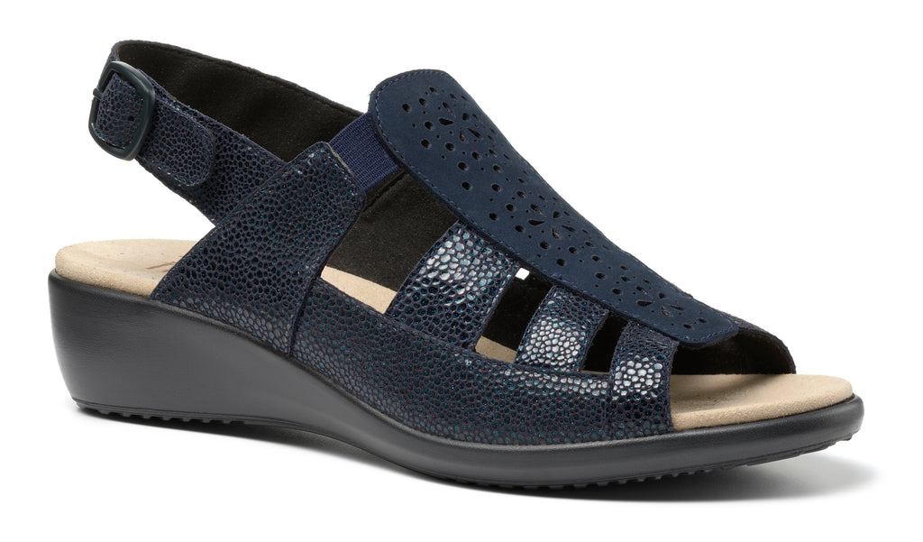 Hotter Roma Sandal Extra Fit Navy Multi
